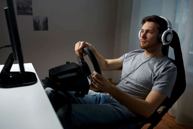 man on a gaming chair